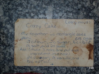 Crazy Cake card side 1
