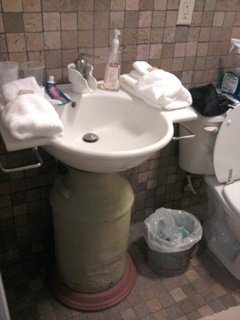 Milk-jug sink base