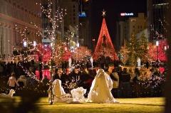 Salt Lake City Temple Square at Christmas.