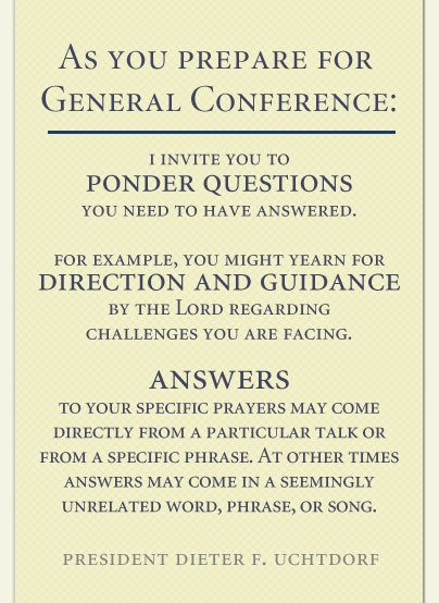 Prepare for General Conference