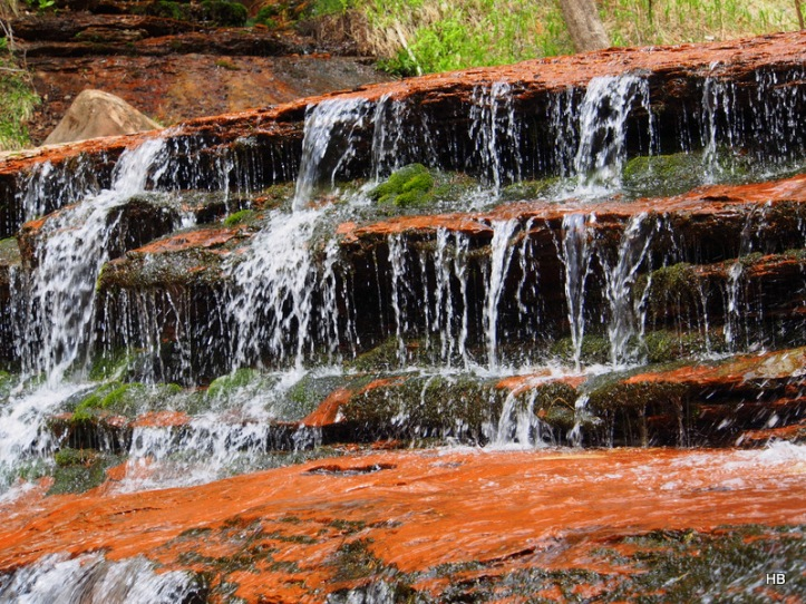 """The """"small falls"""" of the hike."""