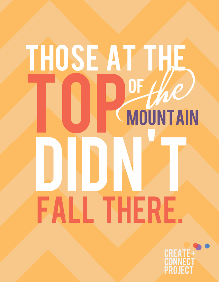 Those at the top didn't fall there