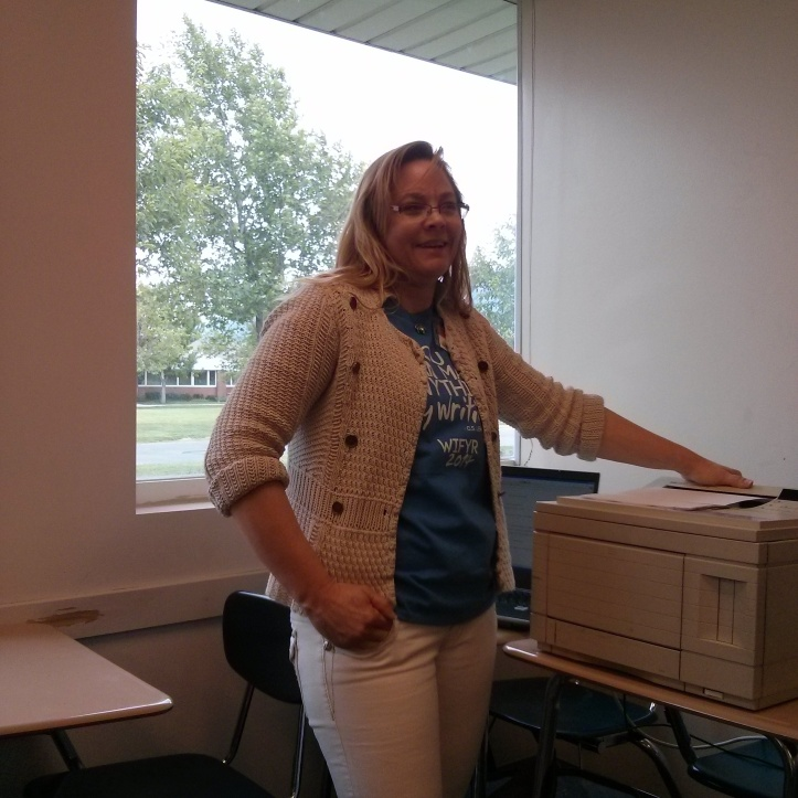 My class was special. Our fearless assistant brought a printer!