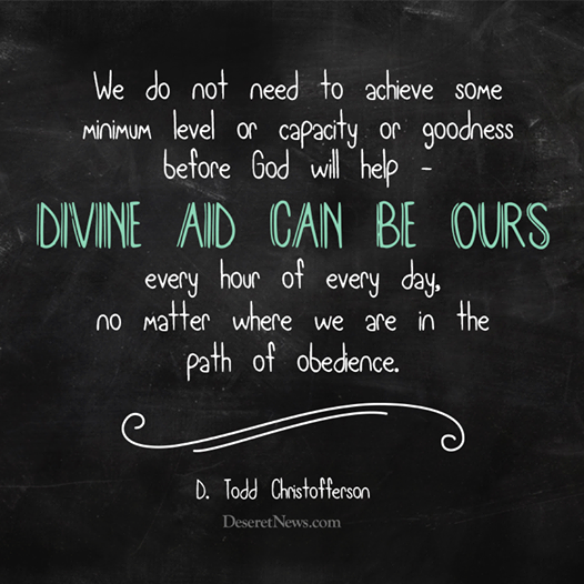 divine aid can be ours