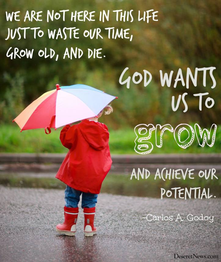 God wants us to grow