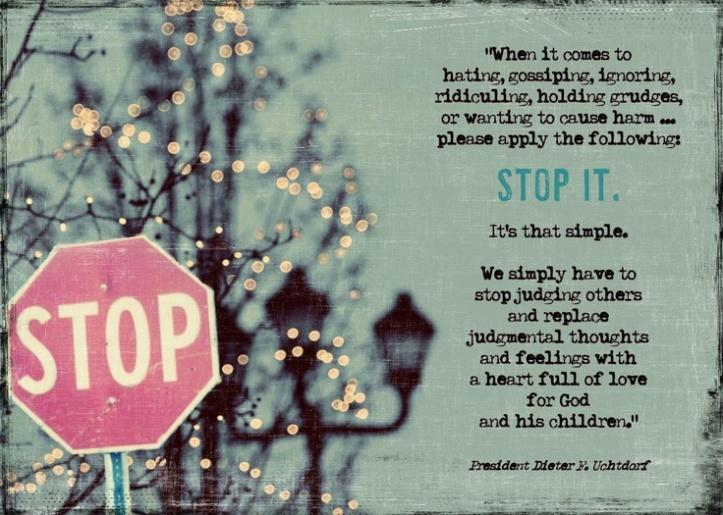 Judging - Stop It