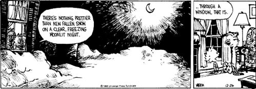 Calvin and Hobbes new fallen snow