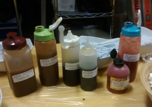 Pancake Sauces: Peter Butter Surprise, Essence of Mable, Bloody Barry