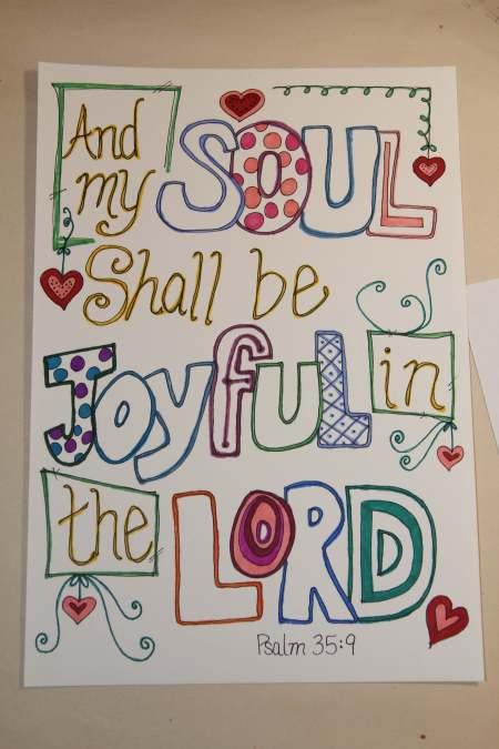 And my soul shall be joyful in the Lord. Psalm 35:9