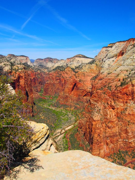 The view from the top of Angel's Landing. Zion National Park, Utah.