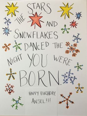 The stars and snowflakes danced the night you were born.